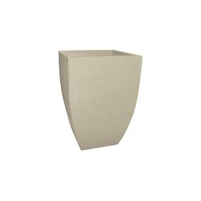 Vaso Quadrado Moderno Japi 29cm Cor: Cimento