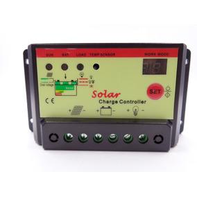 Controlador Carga Solar Pwm 10a 12/24v Con Temporizador