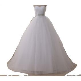 Vestido Novia Strapless,corset Drapeado