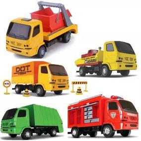 Todos Junto Caminhão Brinquedo Lixo Guincho Bombeiro Limpeza