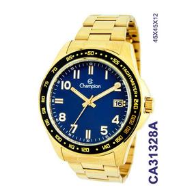 518ac3baddd Relógio Masculino Champion Dourado Azul Lançamento Ca31328a