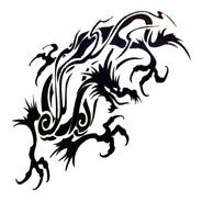 Kit 5 Tattoo's Tribais Temporárias Tatuagem Dragão Tribal A