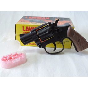 Arma Rambo Lawman 1 Revolver + 2 Cartelas Espoleta 70 Bbs