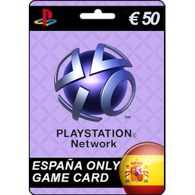 Gift Card Playstation Network España 50 Euros Ps2 Ps3 Ps4
