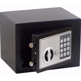 Mini Cofre Eletrônico Digital De Aço Com Senha E Chave