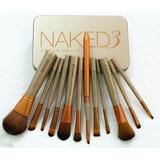 Set 12 Pinceles Brochas Naked Caja Metalica.100%original !!!
