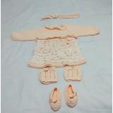 Vestido Recém Nascido Crochê