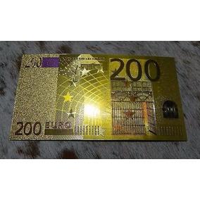Lote Cedulas Euro Estampa Ouro Frete Gratis