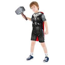 Fantasia Infantil Thor Com Capa E Martelo Vingadores P M G
