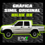 Calco Toyota Hilux Dx Dlx Calcomania Ploteoya! Por Lateral