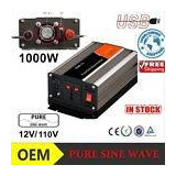 New Pure Sine Wave Power Inverter 1000w 12v To 110v With Usb