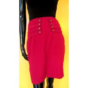 Falda Vintage Roja S Tipo Tubo