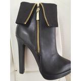Calzado Dama Botines 38 Studio F !! Nuevos !! Negros Mujer