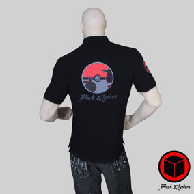Playera Polo - Pokemon Bordado 3d - Black Elysium