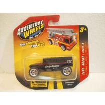 Adventure Wheels Camioneta Hummer Policia Negra 1:64