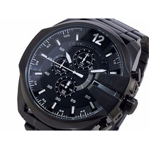 Relógio Diesel Preto Pulseira Dz4283 Aço Novo L27