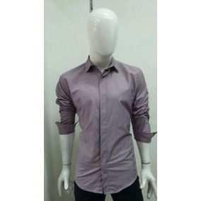Camisa Slim Fit Color Lila