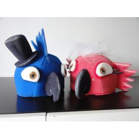 Gorros Goma Espuma Cotillón Casamiento: Pájaros Loros Novios