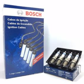 Kit Jogo Cabo E Vela Bosch Ford Fiesta Ka 1.0 1.6 99/..2010