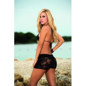 Shorts Para Playa Mujer Pareo Encaje Crochet 7736-18