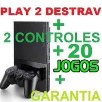 Video Games Play 2 Seminovo Completo 20 Jogos + Garantia!
