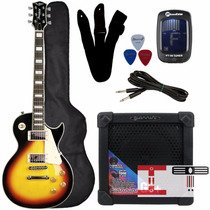 Guitarra Kit Strinberg Les Paul Clp79 Sb+ Cubo G 5 Izac Tech