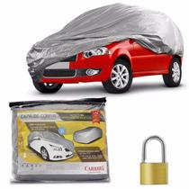 Capa Cobrir Carro 100% Impermeável E Forrada P Com Cadeado