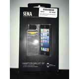 Capa Carteira Iphone 5 Preta Tipo Couro Apple Original