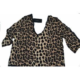 Blusa Vestir Zara Talle Grande Especial Xxl Animal Print Imp