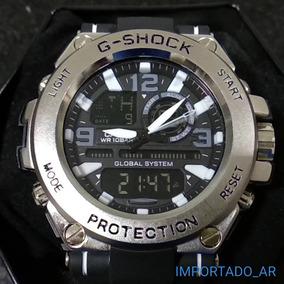 f9c99c651de Relogio Prata Maquinario Aparente Dourado - Relógios De Pulso no ...