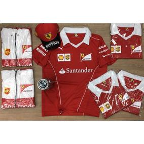 Kit Santa Ferrari Camisa Gola V + Bone c4281314c38