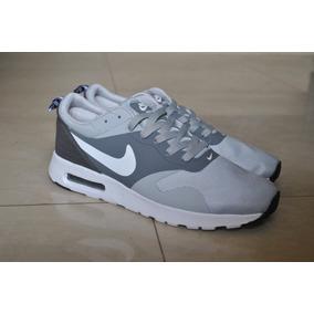 Kp3 Zapatos Nike Air Max Tavas Gris Para Caballeros