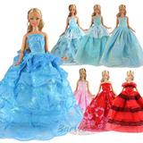 Barbie Vestidos 5 Piezas Y 10 Pares De Zapatos Marca Barwa A