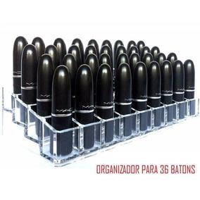 Kit Maquiagem. Porta Batom Acrilico. Organizador 36 Batons