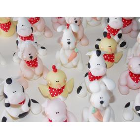 4 Souvenirs En Porcelana Fría (animales De Granja)