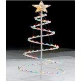 Arbol De Navidad En Espiral 3,5 Pies, 100 Luces Multicolores