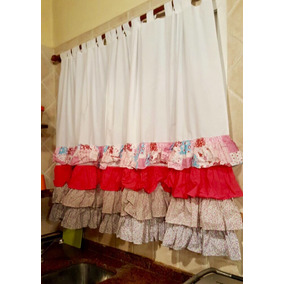 cortina de tela para cocina paos m x m