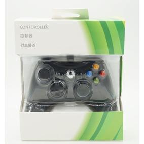 Joystick Com Fio Controle Para Xbox 360 E Pc - Preta