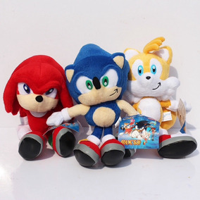 3 Peluches Sonic The Hedgehog Tails Knuckles