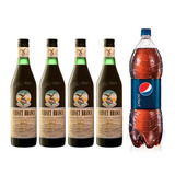 Fernet Branca Pack X 4 + 1 Pepsi 2,5 Lts De Regalo!!