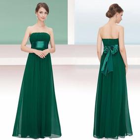 Vestido Fiesta Largo Verde Gordita Especial Grandes Chicos