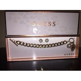 Guess Pulsera Y Aretes $1490.00 Envio Gratis
