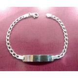 Esclava/pulsera Para Caballeros En Plata 925