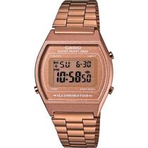 Reloj Casio Retro Vintage B640 Dorado Rosado Originales