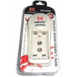 Mini Carregador Pilhas Bateria 9v Mox Mo-806 Bivolt Aaa E Aa