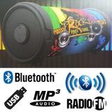 Parlante Bluetooth Portatil Sd Pen Drive Radio Fm