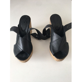 Sandalias Negras Tipo Prune, Sarkany, Impecables!