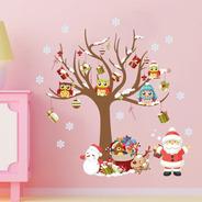 Adesivo Para Parede Decoração De Natal Papai Noel Presentes