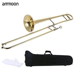 Shanhai Ammoon Tenor Trombón Latón Oro Laca Bb Tono B Instr