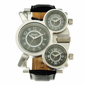 Reloj Caballero Oulm Hp1167 3 Zonas Horarios